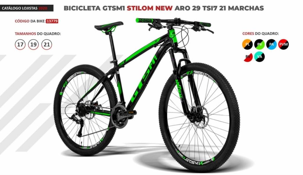 BICICLETA GTSM1 STILON NEW FREIO A DISCO 21 marchas aro 29