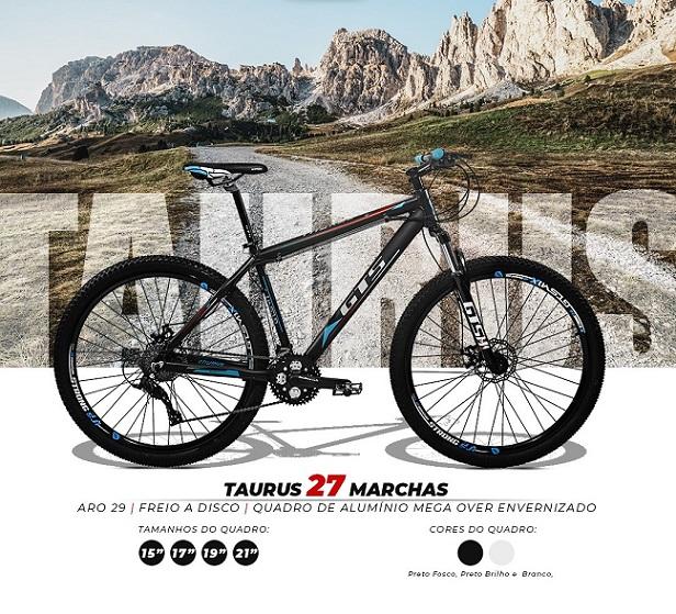 BICICLETA GTS M1 TAURUS FREIO DISCO 27 m. K 7 aro 29